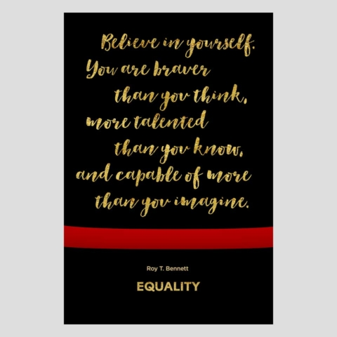 PLANETFAB EQUALITY CHARTER SCHOOL POSTER INSPIRATIONAL 7